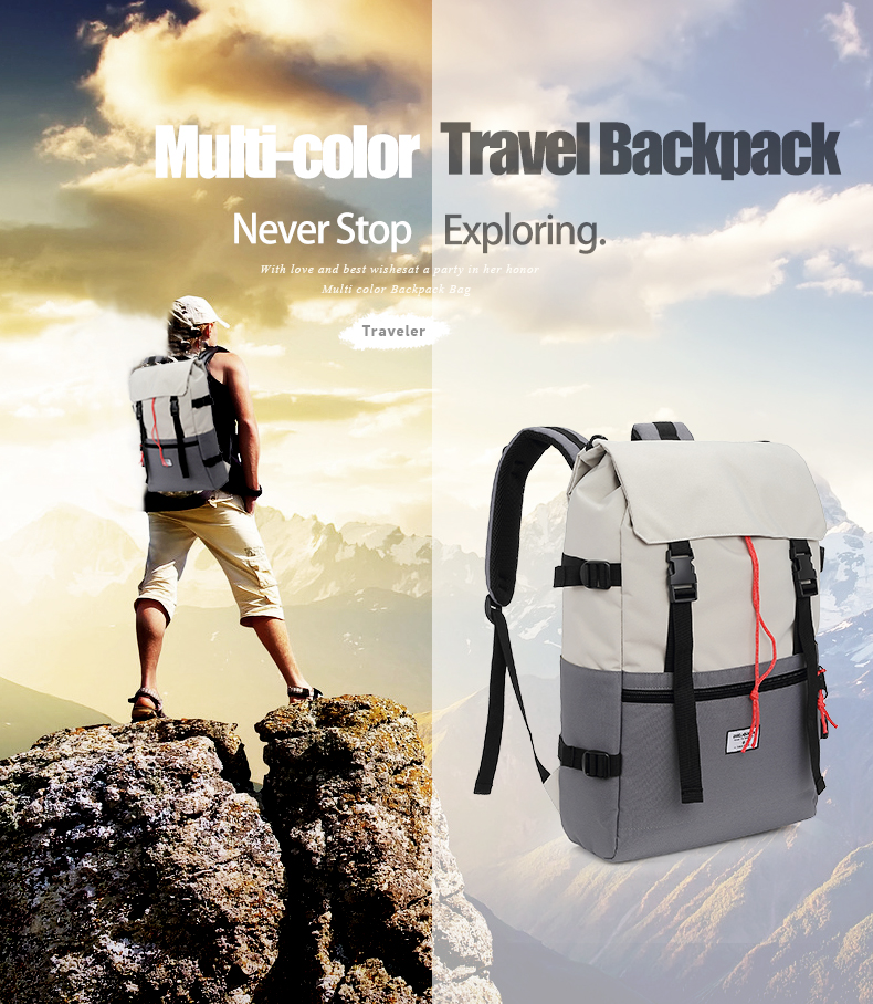 KINGSLONG Travel Men Waterproof Drawstring Bag America Backpack for Laptop Male Large Capacity Bag for Teenagers KLB1342-6 2
