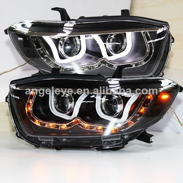 Highlander U Style Angel Eyes LED Head Lamp For TOYOTA 2008-2010 year LDV3
