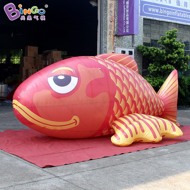 4m Long Inflatable Giant Carp/ Big Inflatable Cyprinoid Fish For Party  Events Advertising Inflatable