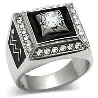 Rvs Ring Epoxy zwart met AAA CZ steen Europa en verenigde staten stijl mode liefde sieraden big size ringen voor mannen