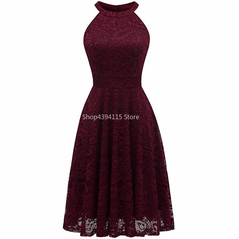 2019 винтажное цветочное кружевное платье с открытыми плечами женские вечерние платья миди с высоким низким подолом женские бордовые красные платья