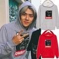 Nova EXO sehun ohbey algodão camisola de manga comprida com capuz Outerwears