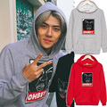 Nuevos EXO sehun ohbey juego la camiseta del algodón de manga larga con capucha Outerwears