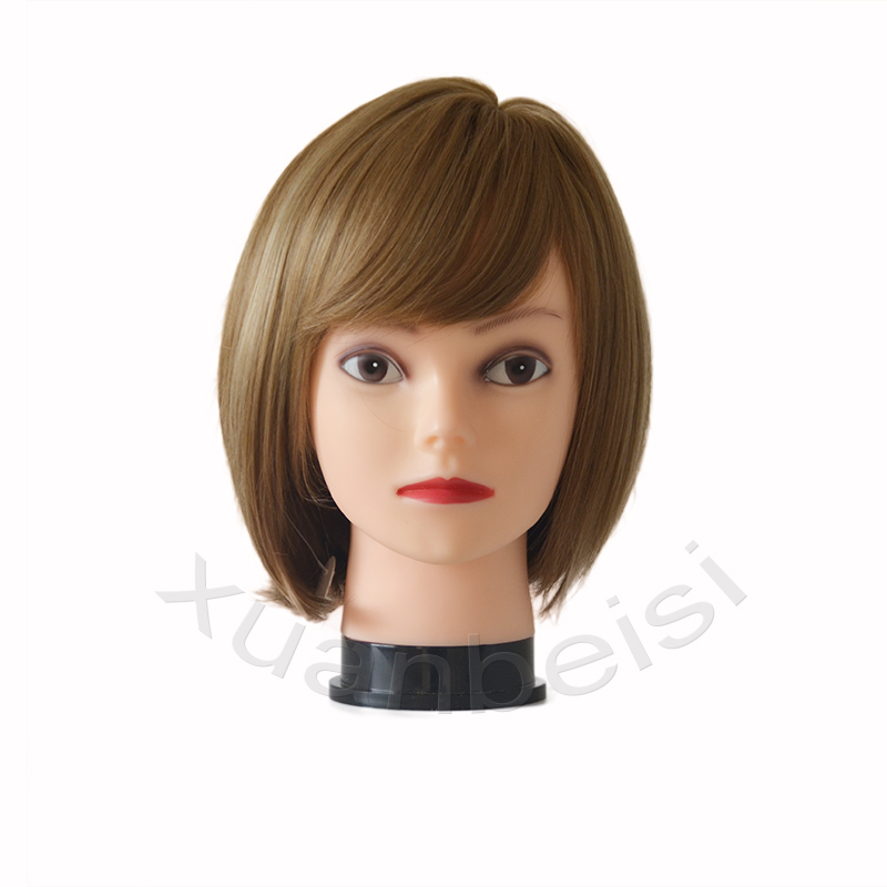 58cm Bald Wig Head Realistic Women Dummy Head for Wig Hat Display With Free Clamp Mannequin Head Wig Stand in Wig Stands from Hair Extensions Wigs