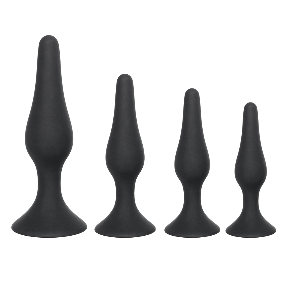 IKOKY Black Butt Plug for Beginner Erotic Toys Silicone Anal Plug Adult Products Anal Sex Toys for Men Women Prostate Massager 3