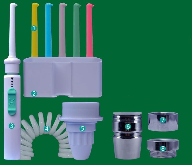 все цены на Faucet Teeth clean Oral Irrigator Dental SPA Water Flosser Jet Interdental Remove Debris Reduce Bacteria Tooth Cleaner Oral Care онлайн
