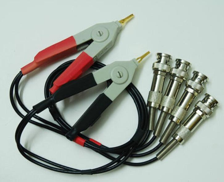 LCR Meter Test Leads / LCR test Clip / Terminal Kelvin Test Wires w/4 BNC 1 set kelvin clip for lcr meter with 4 bnc test wires
