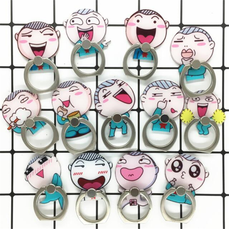 360 Degree Cute Cartoon Face Expression Finger Ring Holder Phone Stand Holder Mobile Phone Holder Stand For All Smartphone