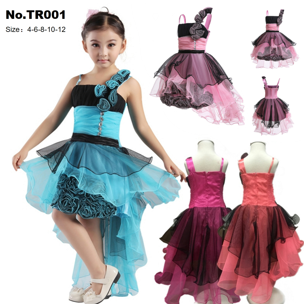Free Shipping 2019 New Arrival Kids Dress For Girls 4-12 Year Children Pageant Gown Patchwork Novelty Girl Party Dresses Factory