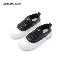 CCTWINS KIDS spring autumn children pu leather slip on for baby boy brand casual sneaker girl