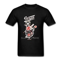 Comfortabele T-shirts Grappige Heren Vespa New York Korte Mouwen Kleding Ronde Kraag Man Gedrukt Kleding T-shirts