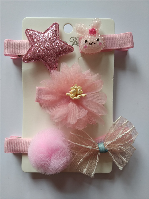 Baby Mädchens Stoff Haar Karte Fünf-stück Anzüge GüNstige VerkäUfe