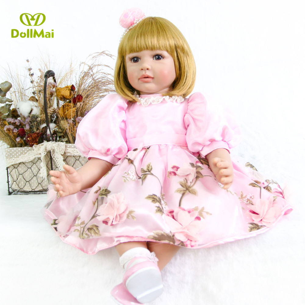 Fashion Doll Reborn Babies Doll For Princess girls 61 CM True touch Soft silicone Alive Reborn Baby Doll For girls gift toy  Fashion Doll Reborn Babies Doll For Princess girls 61 CM True touch Soft silicone Alive Reborn Baby Doll For girls gift toy