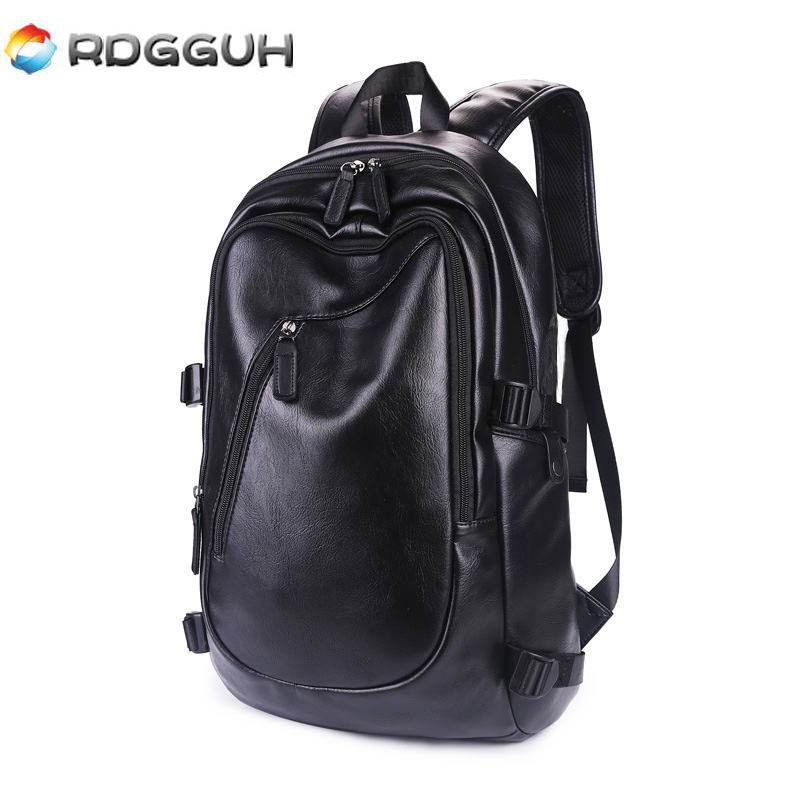RDGGUH New Arrival Men Leather Backpack Large Capacity School Bag For College Casual Daypack Travel Laptop Backpack Male Mochila new arrival men and women outdoor mountaineering backpack casual travel backpack large capacity backpack 70l