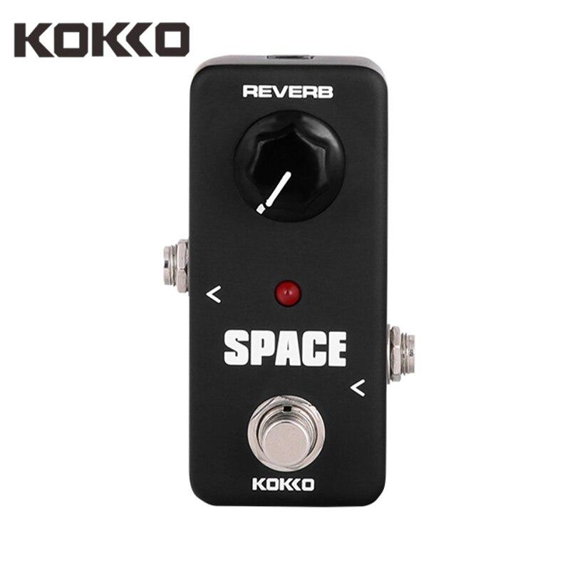 KOKKO FRB2 Espace Mini Guitare Pédale Complet Reverb Pédale D'effet Ture Bypass Guitarra Effets Pour Basse Électrique Guitare Accessoires