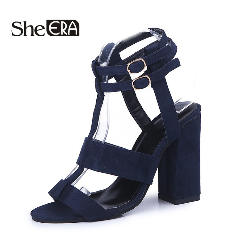 She ERA Gladiator Sandals Women Summer Buckle Strap 10cm High Heels Women Party Sandals Heeled Dress Shoes