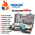 max load weight 5000KG Wireless remote control Auto electric hydraulic jack car lift USV tire repair tools toolkit