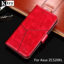 Для Asus Zenfone 4 Max ZC520KL случае k'try Винтаж искусственная кожа + Мягкий силиконовый кошелек с откидной крышкой для Asus ZC520KL чехол для телефона Fundas