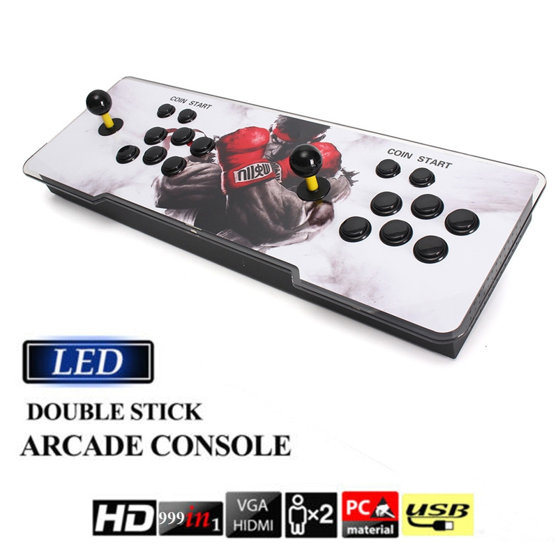 999 In 1 Double Stick Arcade Game Joystick Classic Retro Style Video Game Console With VGA Output Aracade Game Machine us plug hdmi video game player 16 bit md nostalgia gaming console with double 2 4g wireless controllers retro style design