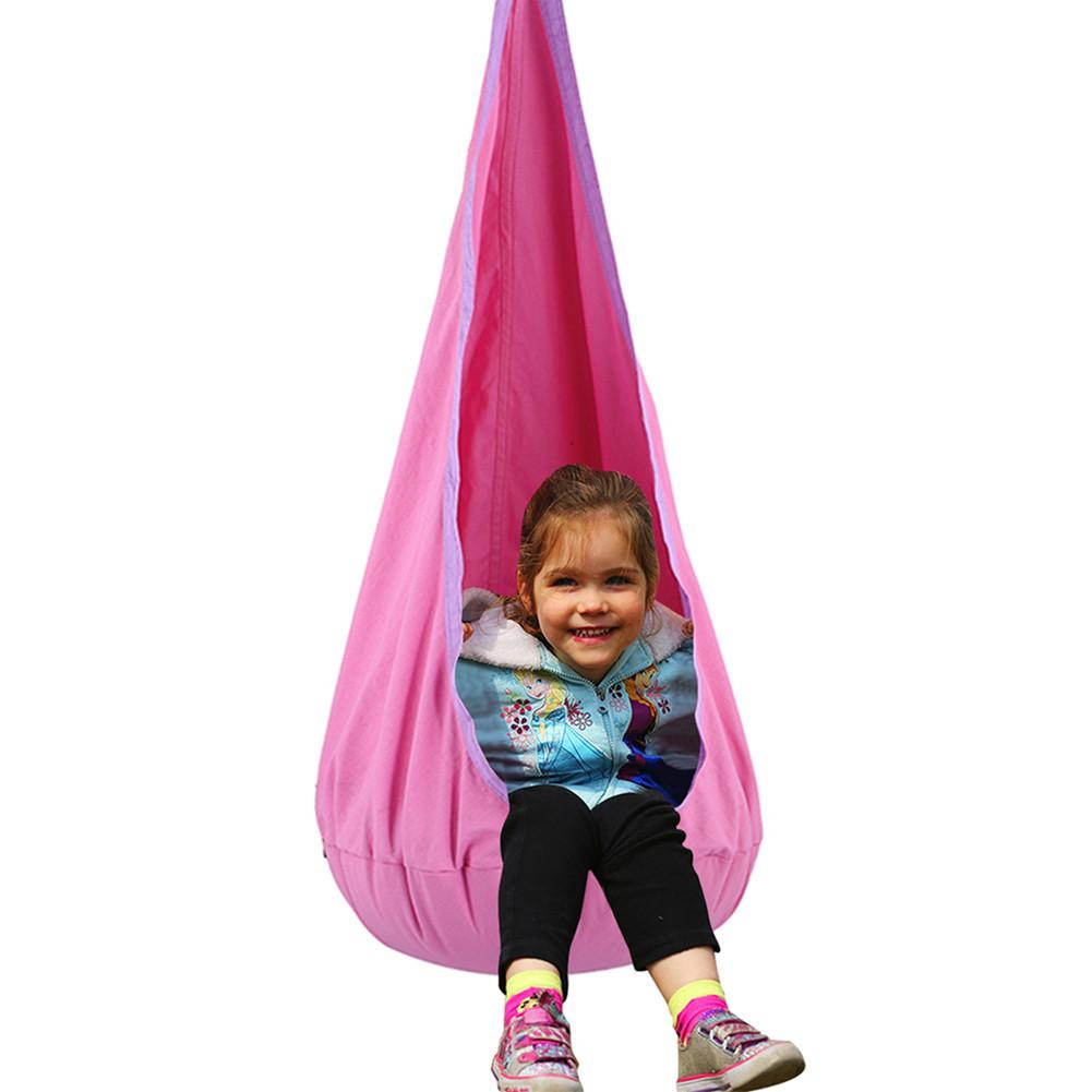 1 Peice Baby Hanging Seat Nook Child Swing Chair Nest For Indoor And Outdoor Use Great For Children Hammock Multi-color optional new kids pod swing chair nook hanging seat hammock nest for indoor and outdoor use great for children kids 7 types