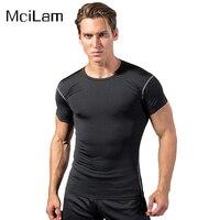Homens Apertado Topo Do Esporte Da Aptidão Crossfit Musculação Correndo Ginásio T Shirt Homens Meias De Compressão De Basquete Sob Tee Tops