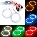 New 2x 60MM 66LED COB Bulb Angel Eyes CCFL Headlight Halo Ring Lamp Light 12/24V