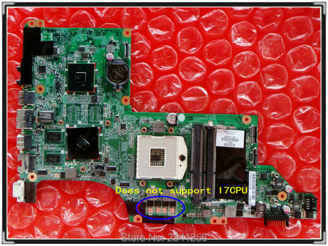 605319-001 para hp dv7-4000 dv7-4000 notebook 5470/512 daolx6mb6h1 para intel placa madre del ordenador portátil hm55 gráficos no integrados