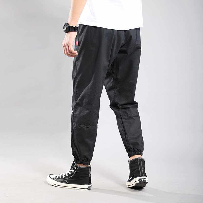 ผู้ชาย Hip Hop Joggers Harem กางเกงหลวมกางเกงกระโปรงกางเกงขนาดใหญ่ Patchwork กางเกงชายเสื้อผ้า