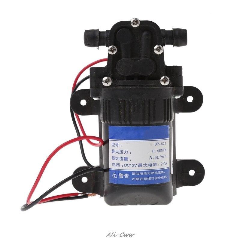 a3d4bc498 DC 12 V 3.5L Min 0.48MPa 70 PSI Diafragma de Alta Pressão da Bomba de Água  Auto Priming