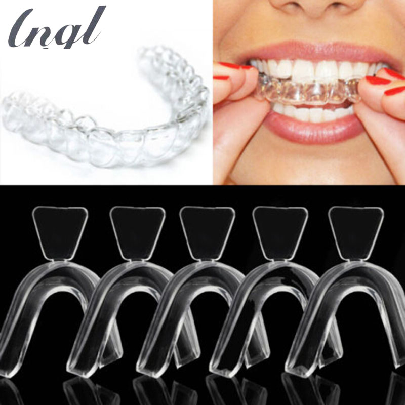50 Pieces/Pack Thermoforming Dental Mouthguard Teeth Whitening Trays Bleaching Tooth Whitener Mouth Guard Care Oral Hygiene dental tools kit teeth whitening high speed sonic tooth whitener led precisely clean whitening dental tartar remover oral care