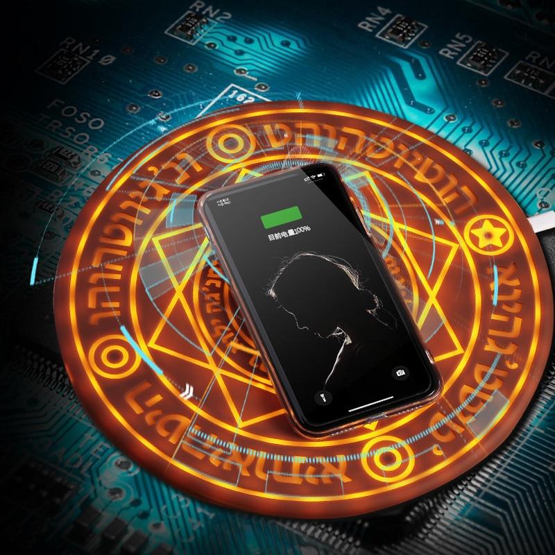 Magique Tableau Sans Fil Chargeur Pad Téléphone Chargeurs IphoneXS Max Samsung S10 S9 Note9 QI Sans Fil De Charge Station Base L'universalité
