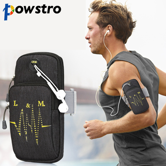 Powstro Universal Cellphone Bag Case for screen 5.4 to 6.2 inches Large Capacity Phone Case For Phone On Hand Sports Phone Pouch