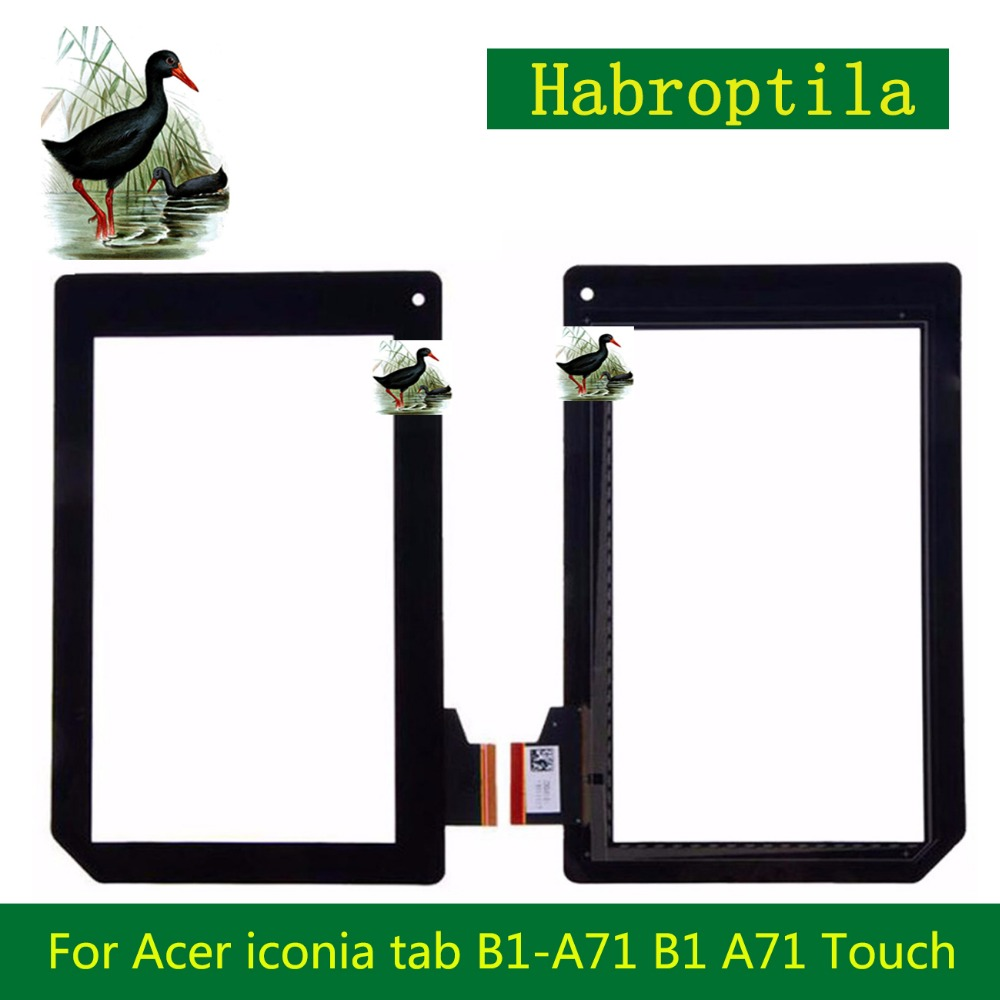 High Quality 7 For Acer iconia tab B1-A71 B1 A71 Touch Screen Tablet With Digitizer Panel Front Glass Lens 10pcs lot 10 1 for acer iconia tab a510 a511 a700 a701 69 10i20 t02 v1 touch screen with digitizer panel front glass lens