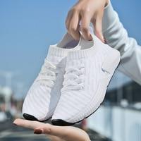 Sock Women Men Running Shoes 2018 New Sport Shoes Sneakers Woman Athletic Socks Breathable Walking Slip On Footwear Black Pink