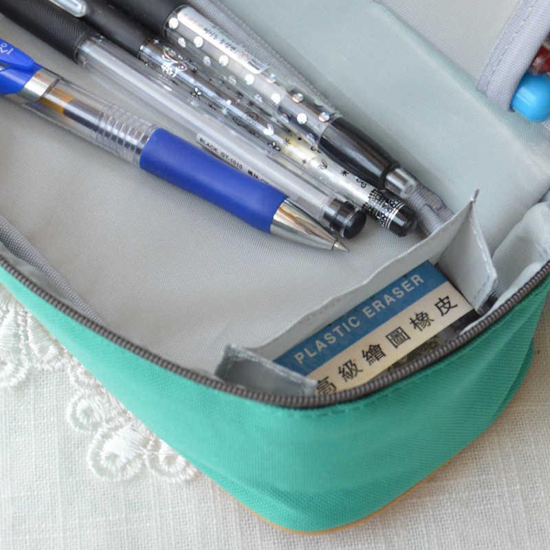 韓国の多機能スクール鉛筆ケース&バッグ大容量キャンバスペンカーテンボックス用男の子女の子子供ギフト文具用品