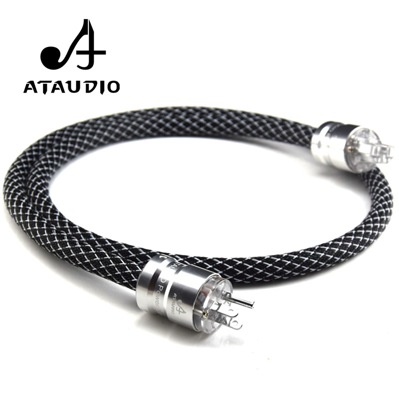 ATAUDIO Hif Power Cable 4N OFC DVD Amplifier Multimedia High Quality Power Cord with US Plug