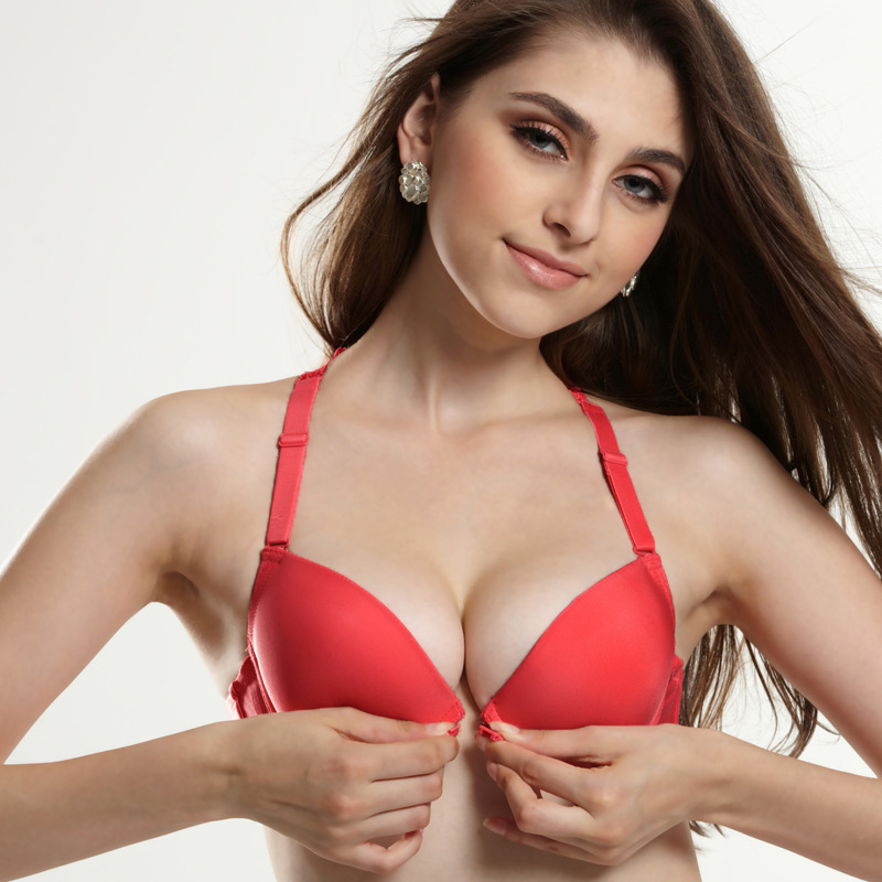 72ad725ff9 ANSELF New Sexy Women Lace Bra Front Closure Racer Back Lace Bralette  Female Padded Push Up Bra Ladies Seamless Strappy Bra-in Bras from Underwear  ...