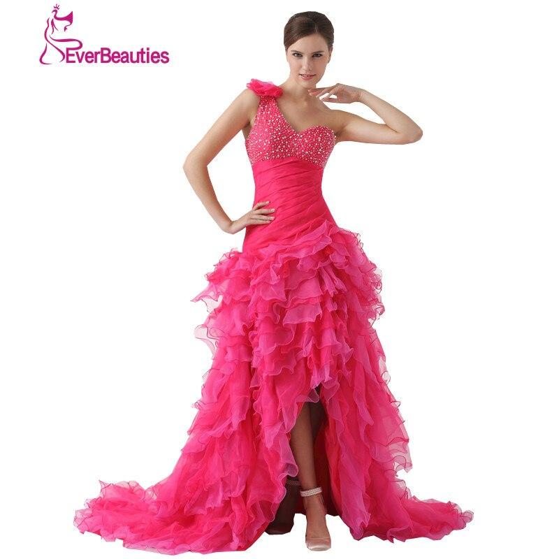 Luxury Vestido Debutante Quinceanera dresses 2017 Long Tulle with Beaded Ruffles Vestidos De 15 Anos One Shoulder Hot Pink