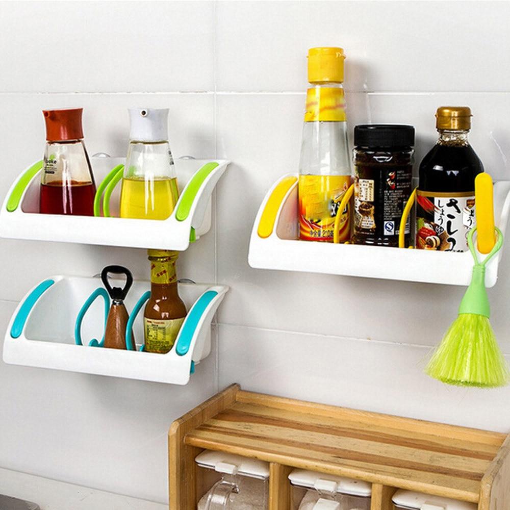 Home Bathroom Plastic Shower Storage Rack Shampoo Holder Shelf Wall ...