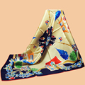 "Huajun || Spring brand scarf ""dream home"" 90 silk square 100% silk twill silk scarves printed shawl"