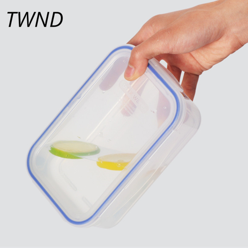 Japan style bento box plastic lunch box single layer man woman children microwaveble tableware 12