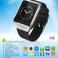 Orijinal ZGPAX Android İzle Telefon MTK6572 Çift Çekirdekli 2.0MP Kamera ile S8 SIM 3G WiFi GPS Bluetooth Akıllı Izle saatı
