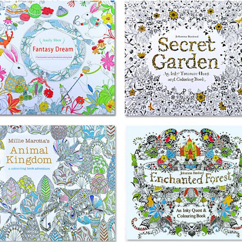 An Inky Treasure Hunt And Coloring Book Secret Garden By Johanna Basford Kids Learning Education Drawing Notebook Toys 16040605 In From