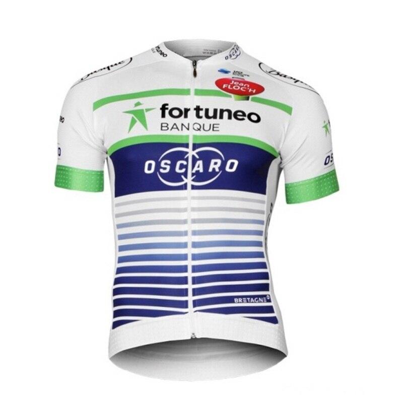 2017 Zespół Fortuneo oscaro biały mężczyźni szybkoschnący Jazda Na Rowerze jersey oddychająca odzież rowerowa Ropa Ciclismo pielucha Rowerów MTB tylko