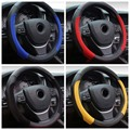 Racing 38CM Car Styling Steering Wheel Cover Suede Anti-slip Hit color stitching for BMW/AUDI/Ford/Toyota/Honda/VW golf 4 5 6