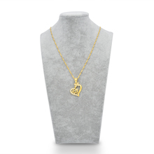 Arabic Muslim Women Islamic Religious Allah Love Heart Gold-color Pendant Necklace Jewelry