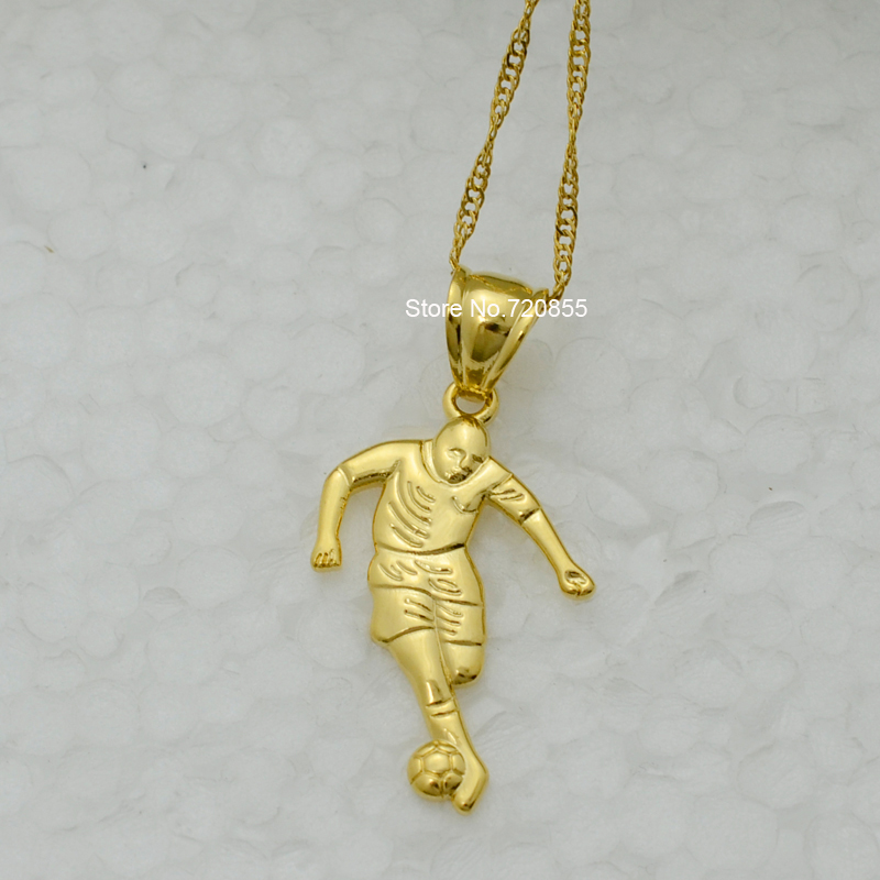 Anniyo football figure pendant necklaces for women girl gold color anniyo football figure pendant necklaces for women girl gold color soccer head sculpture jewelry chain 1824 in pendant necklaces from jewelry aloadofball Image collections