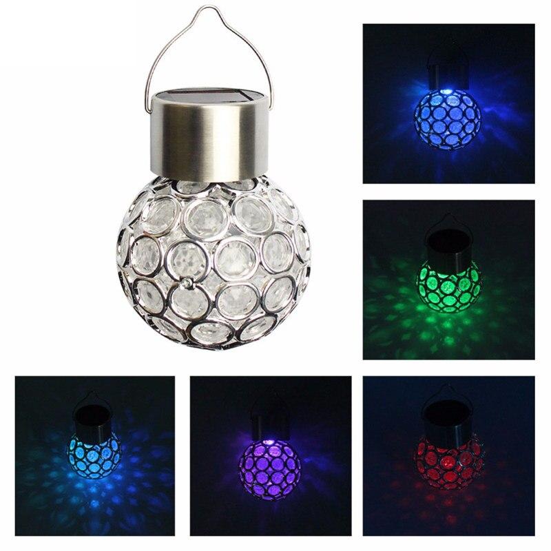 AIMIHUO napelemes lámpa kültéri vízálló LED-es lámpa Crackle Glass Solar hang labda fény RGB lámpa Garden Decor napelemes éjszakai fényhez