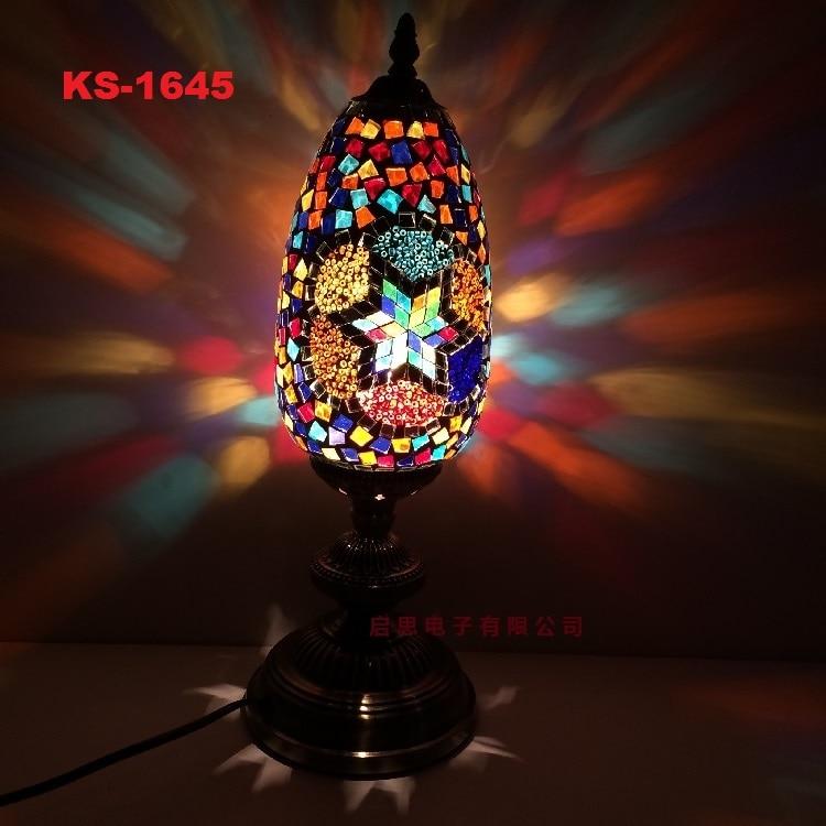 deco artesanal vidro romantico cama luz lampada 02