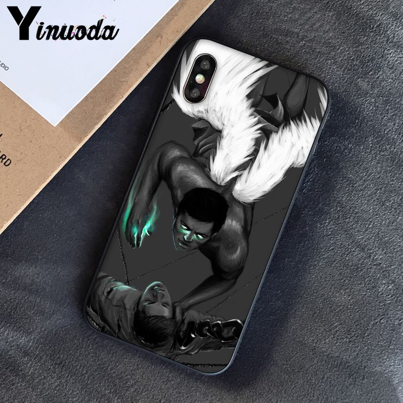 Image 3 - Yinuoda Supernatural Jensen Ackles Dean Winchest TPU black Phone Case Cover Shell for iPhone 8 7 6 6S Plus 5 5S SE XR X XS MAX-in Half-wrapped Cases from Cellphones & Telecommunications